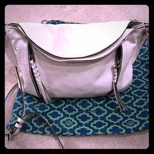 Oryany Danielle Italian Leather White Handbag